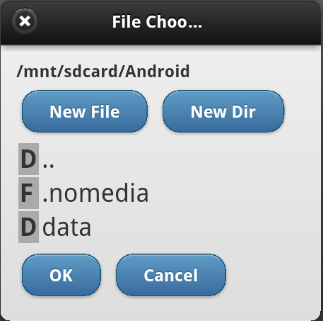 PhoneGap File Chooser Dialog